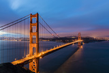 Early Morning Traffic on the Golden Gate Bridge in San Francisco, California, Usa Photographic Print by Chuck Haney