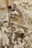 Intricate Carvings on the Nativity Facade of the Sagrada Familia in the Heart of Barcelona, Spain Reproduction photographique par Paul Dymond