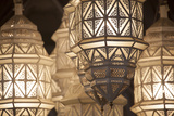 Africa, Morocco, Marrakesh. Close-Up of Ornate Metal Lanterns Photographic Print by Alida Latham