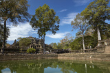 Pool and Baphuon Temple, Angkor Thom Temple Complex, Angkor World Heritage Site Photographic Print by David Wall