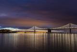 The Bay Bridge Reflects at Dawn in San Francisco, California, Usa Photographic Print by Chuck Haney