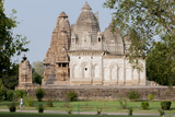 India, Khajuraho, Madhya Pradesh State Temple from the Chandella Dynasty and Grounds Photographic Print by Ellen Clark