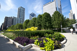 Illinois, Chicago, Millennium Park, Chase Promenade Photographic Print by Bernard Friel