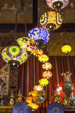 Qatar, Doha, Souq Waqif, Redeveloped Bazaar Area, Traditional Lamps Photographic Print by Walter Bibikow