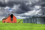 Washington State, Palouse. Barn and Silos Photographic Print by Jaynes Gallery