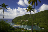 Elevated View of Marigot Bay, St. Lucia, West Indies Photographic Print by Brian Jannsen