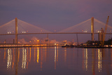 Georgia, Savannah, Talmadge Memorial Bridge at Dawn Photographic Print by Joanne Wells