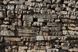 Stack, Fallen Stone Pieces from Bayon Temple Ruins, Angkor World Heritage Site Photographic Print by David Wall