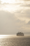 Ferry Boats Crossing Elliott Bay from Seattle, Washington Photographic Print by Greg Probst