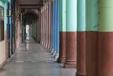 Cuba, Havana. Repeating Columns of an Arcade Along the Paseo Del Prado Photographic Print by Brenda Tharp