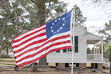 South Carolina, Camden, Historic Camden, Betsy Ross Flag, Craven House Photographic Print by Lisa S. Engelbrecht