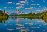 Wyoming. Mt. Moran Reflected in the Snake River, Grand Teton National Park Photographic Print by Jaynes Gallery
