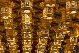 Singapore, Chinatown, Buddha Tooth Relic Temple, Lanterns Photographic Print by Walter Bibikow