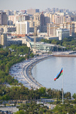 View over Coast of Baku, Baku Bay, Azerbaijan Photographic Print by Michael Runkel