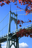 Oregon, Portland, Cathedral Park, St. John's Bridge Photographic Print by Rick A. Brown