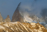 View of Mount Fitzroy Near El Chalten at Sunrise, Patagonia, Argentina, South America Photographic Print by Michael Runkel
