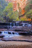 Utah, Zion National Park, Water Cascading Through Left Fork of North Creek Photographic Print by Jamie And Judy Wild