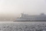 Washington State, Puget Sound. Ferry Emerges from Dense Fog Reproduction photographique par Trish Drury