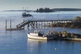Maine, Boothbay Harbor, Harbor Fog Photographic Print by Walter Bibikow