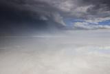 Passing Thunderstorm over Bonneville Salt Flats, Utah Photographic Print by Judith Zimmerman