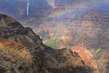 Rainbow over Waipoo Falls. Waimea Canyon. Kauai. Hawaii, Usa Photographic Print by Tom Norring