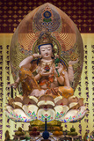 Singapore, Chinatown, Buddha Tooth Relic Temple, Temple Statues Photographic Print by Walter Bibikow