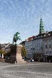 Statue of Absalon. Denmark's First Christian Bishop. Copenhagen Center. Denmark Photographic Print by Tom Norring