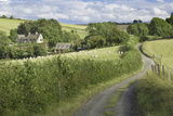 Cottages and Countryside Near Snowshill, Gloucestershire, England, Uk Photographic Print by Brian Jannsen