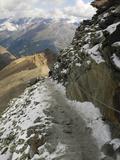 Switzerland, Zermatt, Hiking Trail from Schwarzsee to Hornli Hut Photographic Print by Jamie And Judy Wild