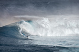 Hawaii. Maui. Lone Windsurfer on Monster Waves at Pe'Ahi Jaws, North Shore Maui Photographic Print by Janis Miglavs