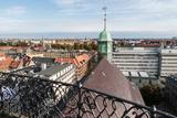 Copenhagen City. Trinitatis Church View from Rundetaarn. Copenhagen City Center. Denmark Photographic Print by Tom Norring