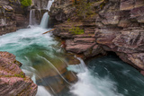 St Mary Falls in Glacier National Park, Montana, Usa Photographic Print by Chuck Haney
