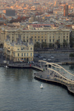 Looking Down over Port Vell from the Montjuic Cable Car in Barcelona, Spain Photographic Print by Paul Dymond