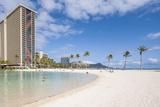 Hilton Lagoon, Waikiki Beach, Waikiki, Honolulu, Oahu, Hawaii Photographic Print by Michael DeFreitas