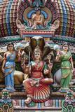 Singapore, Chinatown, Sri Mariamman Hindu Temple, Hindu Deity Detail Photographic Print by Walter Bibikow