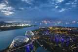 Singapore, Dawn Photographic Print by Walter Bibikow