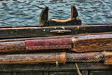 Washington State, Port Townsend. Stowed Oars and Oar Port on Longboat Photographic Print by Jaynes Gallery
