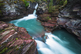 St. Mary Falls, Glacier National Park, Montana Photographic Print by Russ Bishop