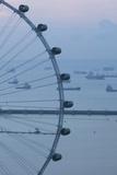 Singapore, Singapore Flyer, Giant Ferris Wheel, Elevated View, Dawn Photographic Print by Walter Bibikow