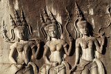 Doorways, Inner Gallery, Khmer Temple, Angkor World Heritage Site, Siem Reap, Cambodia Photographic Print by David Wall
