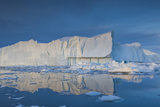 Greenland, Disko Bay, Ilulissat, Floating Ice at Sunset Photographic Print by Walter Bibikow