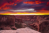 Sunset over Canyon De Chelly, Canyon De Chelly National Monument Photographic Print by Russ Bishop