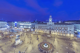 Spain, Madrid, Looking Down on Puerta Del Sol at Twilight Photographic Print by Rob Tilley