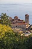 Macedonia, Ohrid, Lake Ohrid, Saint Panteleimon Monastery on Plaosnik Photographic Print by Emily Wilson