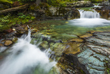 Cascade on Baring Creek, Glacier National Park, Montana, Usa Photographic Print by Russ Bishop