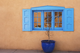 New Mexico, Santa Fe. Window and Pot Photographic Print by Jaynes Gallery