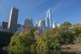 High-Rise Buildings Along from Inside Central Park on a Sunny Fall Day, New York Photographic Print by Greg Probst