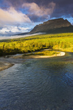 The Saint Mary River under Flattop Mountain, Glacier National Park, Montana, Usa Photographic Print by Russ Bishop