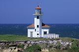 Oregon Coast, Cape Arago Lighthouse, on an Islet Off Gregory Point Photographic Print by Jamie And Judy Wild