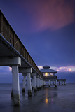 Spring Evening at the Ft. Myers Beach Pier, Ft. Myers, Florida, Usa Photographic Print by Brian Jannsen